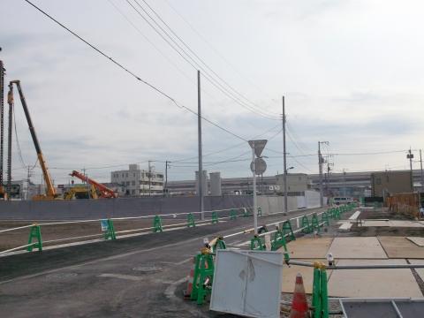 六町駅周辺再開発の風景