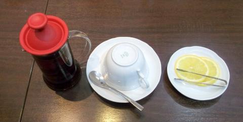ミカドコーヒー軽井沢アウトレットのブレンドレモンティー