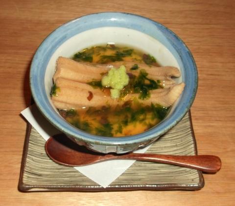 軽井沢和食宿菜々せの夕食穴子の茶わん蒸し