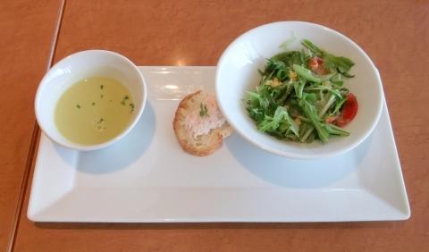 東京都練馬区東大泉5丁目にあるイタリアンのお店「To The Herbs  大泉学園店」前菜とスープ
