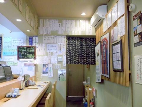 越谷市せんげん台駅東口千間台東にある寿司店その名もおすしやさんの内装