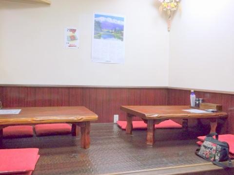 都営大江戸線の光が丘駅を最寄駅とする東京都練馬区旭町1丁目にある中華料理店菜来軒の店内