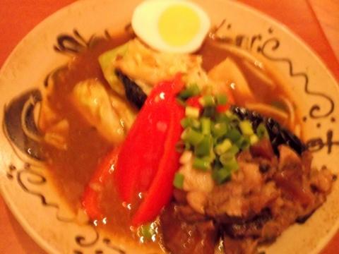 東京スープカレーcahaya総本店の牛すじのオリジナルスープ