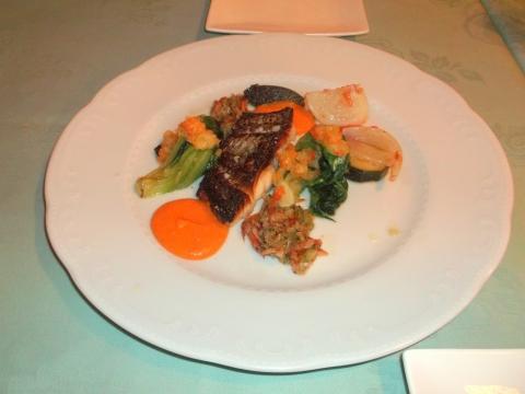 東京都練馬区平和台3丁目にあるレストラン「Grill Matsumoto グリルマツモト」真鯛のポワレ