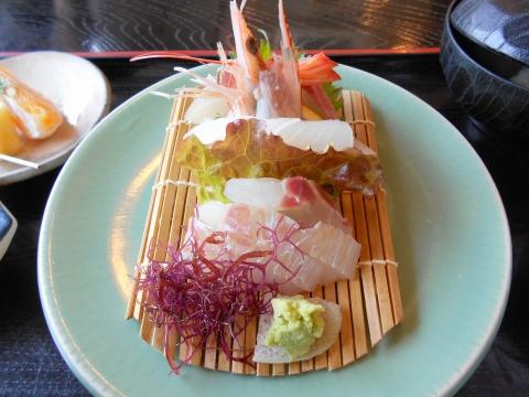 萩市椿東越ヶ浜にある和食のお店いそ萬の刺身