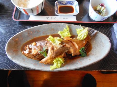 萩市椿東越ヶ浜にある和食のお店いそ萬のソイの煮魚