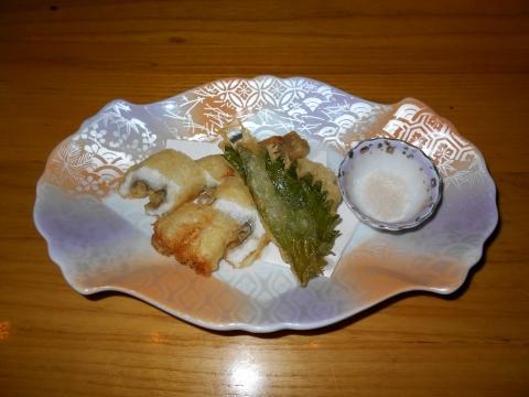 広島県広島市中区新天地にある瀬戸内料理のお店「雑草庵 安芸」穴子の天ぷら