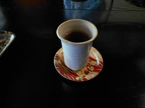 島根県鹿足郡津和野町後田口にある和食のお店「沙羅の木松韻亭」お茶
