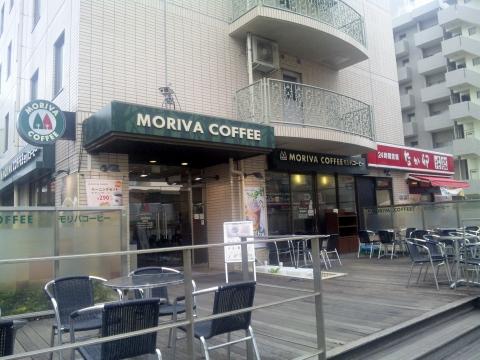 東京都江戸川区瑞江2丁目にありカフェ「モリバコーヒー MORIVA COFFEE 瑞江駅北店」外観