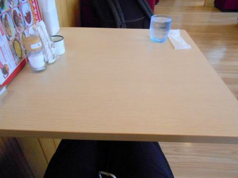 東武スカイツリーライン東武アーバンパークラインの春日部駅近くにある埼玉県春日部市中央1丁目にある喫茶店喫茶ラクーンの座った席