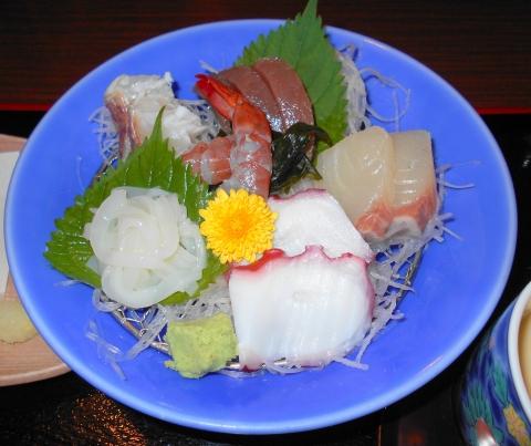 埼玉県春日部市中央1丁目にある和食、割烹料理のお店「レストラン松」お造り御膳のお造り