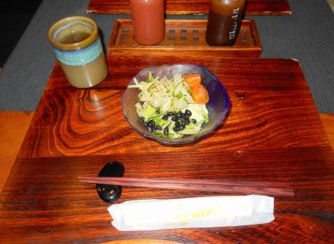 東京都練馬区東大泉5丁目にある和食のお店「小料理 石井」焼魚定食のサラダ