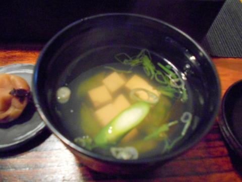 東京都練馬区東大泉5丁目にある和食のお店「小料理 石井」焼魚定食の味噌汁