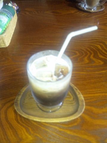 埼玉県越谷市袋山にある喫茶店「古民家きっ茶店 さぼてんの家」アイスコーヒー