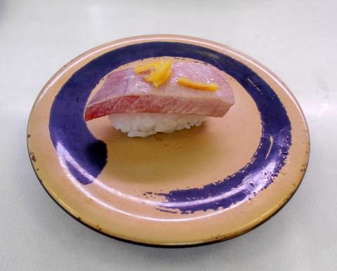 東京都足立区加平にある回転寿司「はま寿司 加平店」炙り中とろ