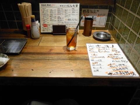 埼玉県所沢市西所沢1丁目にある焼鳥、居酒屋のお店「やきとりにしだ家 西所沢店」店内