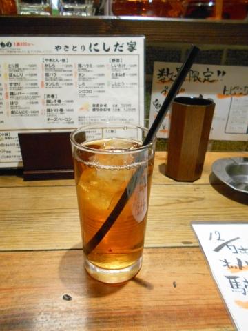 埼玉県所沢市西所沢1丁目にある焼鳥、居酒屋のお店「やきとりにしだ家 西所沢店」ウーロン茶