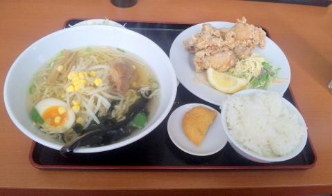 JR武蔵野線の東所沢駅近くの埼玉県所沢市下安松にある台湾料理福味居の鶏の唐揚げランチ