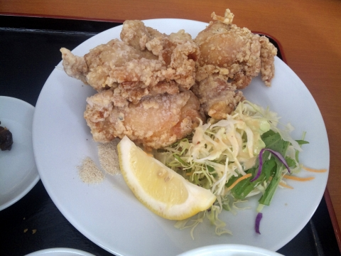 JR武蔵野線の東所沢駅近くの埼玉県所沢市下安松にある台湾料理福味居の鶏の唐揚げ