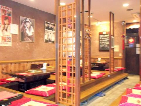 東京都練馬区田柄5丁目にある韓国料理、焼肉のお店「オモニ亭」店内