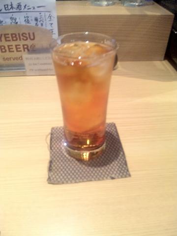 東京都中野区本町2丁目にある居酒屋「匠屋 あいべ」ウーロン茶