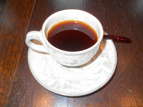 広島県広島市西区三滝町にある料亭「三瀧荘」 雅コースのホットコーヒー