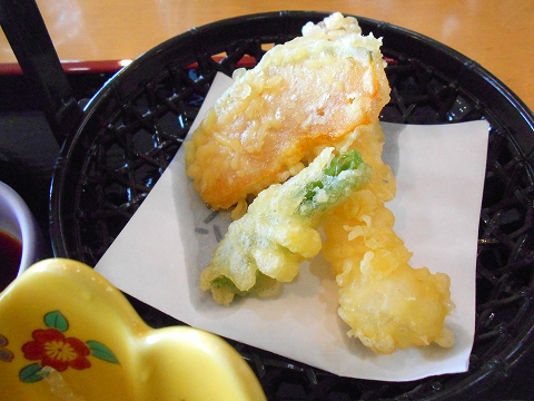 広島県呉市宝町にある和食のお店「椿庵」椿御膳の天ぷら