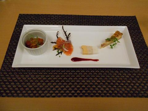 JR山陽本線の尾道駅を最寄駅とする広島県尾道市新浜1丁目尾道国際ホテル内にある洋食とレストランのラ・メールのエトワールのオードブル