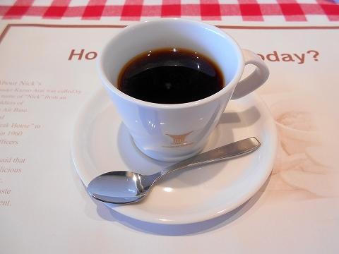 埼玉県狭山市入間川にあるステーキ、ハンバーグのお店「レストラン ニックス」ランチコースのコーヒー