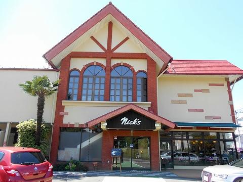 埼玉県狭山市入間川にあるステーキ、ハンバーグのお店「レストラン ニックス」外観