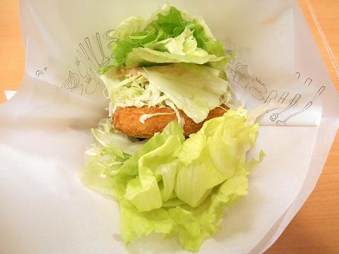 西武新宿線の武蔵関駅を最寄駅とする東京都練馬区関町北4丁目にあるハンバーガーファーストフードのモスバーガー武蔵関店の菜摘のチキン