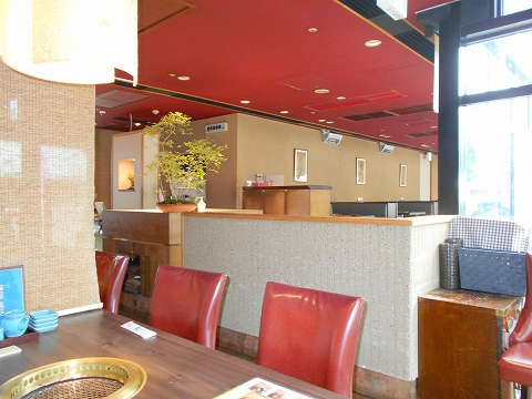 東京都練馬区光が丘5丁目にある焼肉、韓国料理の「韓国名菜 福寿 光が丘店」店内
