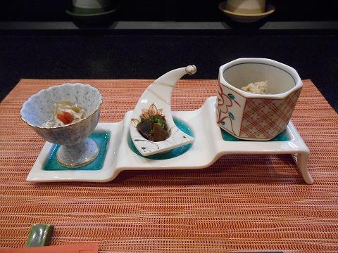 埼玉県春日部市一ノ割1丁目にある釜飯と和食旬の鯛釜飯セットの前菜