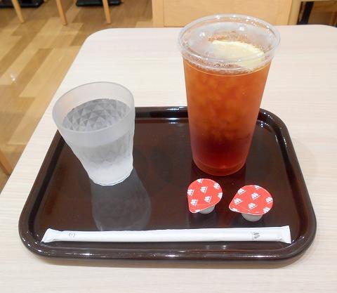 東京都江戸川区瑞江2丁目にあるハンバーガー、ファーストフードの「モスバーガー 瑞江店」アイスティー