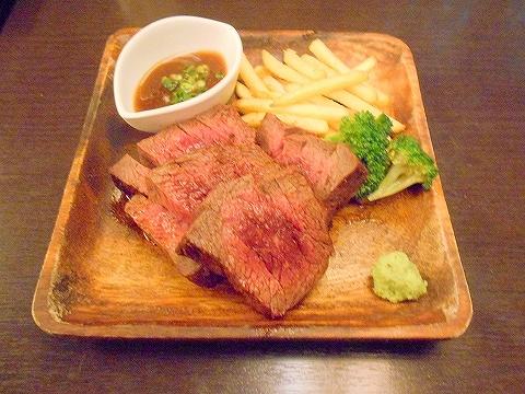 東京都練馬区豊玉北5丁目にあるアジア、エスニック料理のお店「AkiTaka アキタカ」穀物肥育牛の希少部位ステーキ