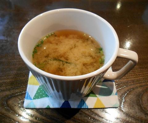 茨城県古河市関戸にあるイタリア料理のお店「いたりあ食堂 灯り家」ちょっと豪華にお弁当ランチのスープ