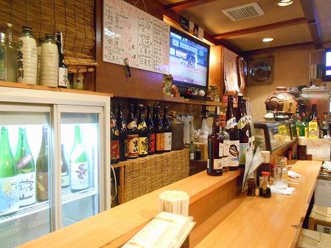 東京都練馬区練馬4丁目 ある焼鳥店「笑天やきとり 一輝」店内