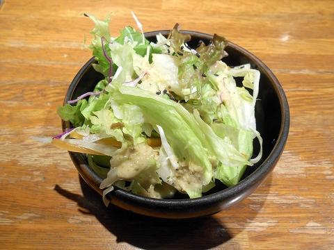 神奈川県川崎市中原区木月1丁目 にある鉄板焼き、洋食のお店「ゆうき亭」ディナーセットのサラダ