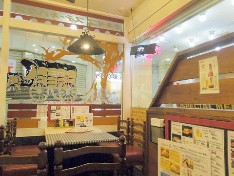 東京都練馬区関町北4丁目にあるステーキ店「TEXAS テキサスむさし関」店内