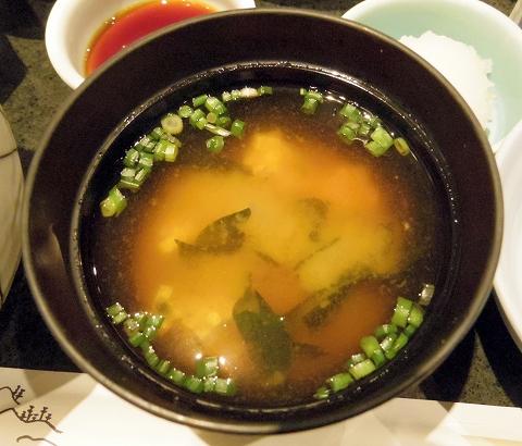東京都渋谷区渋谷2丁目にある天ぷら店「てんぷら天松 東急東横店」おすすめ膳の味噌汁