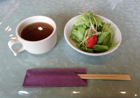 埼玉県越谷市東越谷10丁目にある洋食店「西洋改食 改」Cランチのスープとサラダ