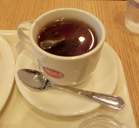 千葉県木更津市富士見1丁目にあるカフェ「ベックスコーヒーショップ BECK'S COFFEE SHOP  木更津店」ホットティー
