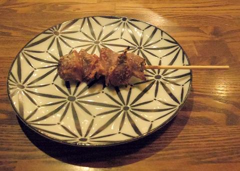 神奈川県川崎市中原区木月2丁目にある焼鳥店「柳さわ」砂肝