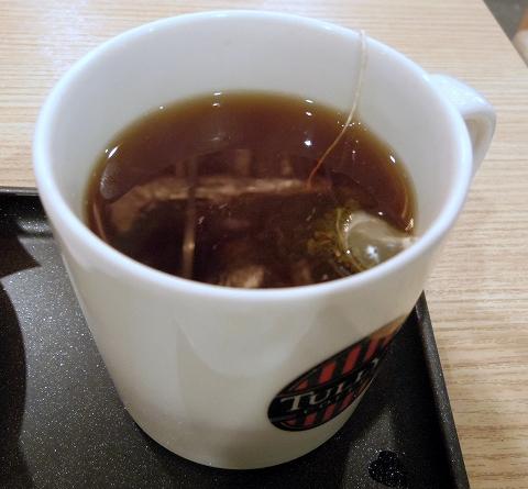 茨城県土浦市有明町にあるカフェ「TULLY'S COFFEE  PLAY atre 土浦店 タリーズコーヒー プレイアトレ土浦店」ホットティー