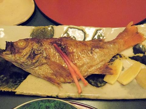 石川県金沢市末町の犀川温泉にある料理温泉旅館「滝亭」のどぐろの塩焼き
