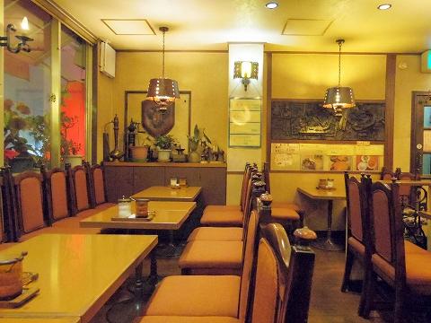 東京都新宿区中落合1丁目にある喫茶店「COFFEE SHOP yakata 館」店内