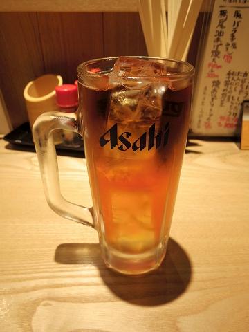 東京都新宿区中落合1丁目にある居酒屋「四文屋 中井店」ウーロン茶
