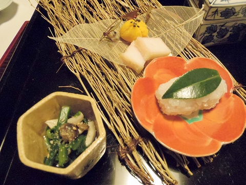 石川県能美市辰口町の辰口温泉にある旅館「まつさき」夕食