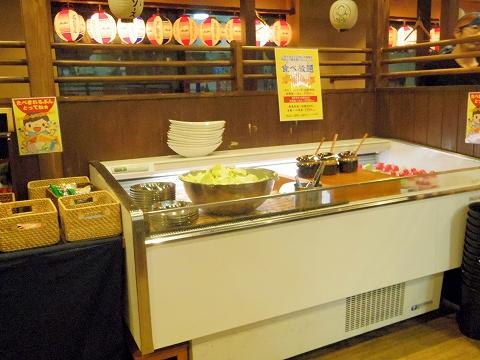 東京都板橋区成増2丁目にある串揚げ、居酒屋「八五郎 成増店」店内