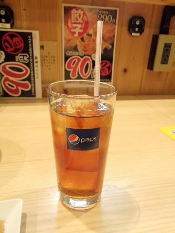 東京都板橋区成増2丁目にある串揚げ、居酒屋「八五郎 成増店」ウーロン茶